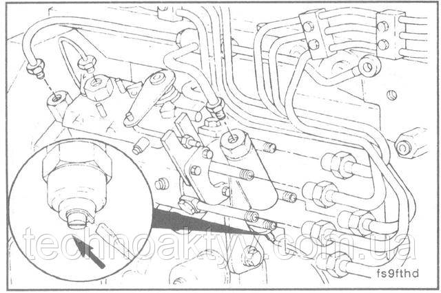 Ключ 8 мм  Подсоедините провода электромагнита и все топливопроводы.
