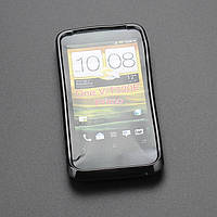Cиликоновый чехол HTC One V/T320E 3D Primo Black Jelly case