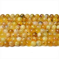 Желтый Опал, Натуральный камень, бусины 8 мм, Шар, Отверстие 1 мм, количество: 47-48 шт/нить