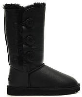 UGG Bailey Button Triplet Black Leather