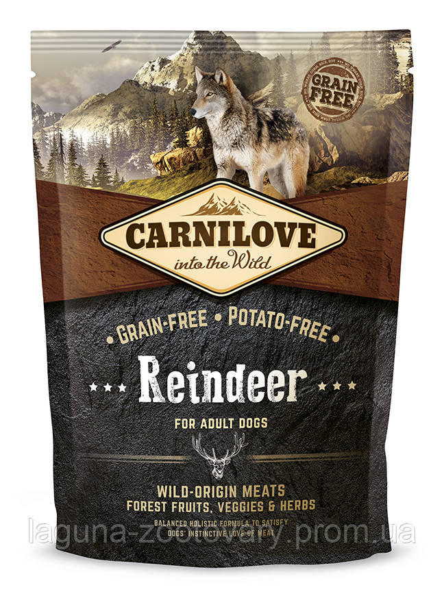Carnilove Raindeer 1,5 kg ( корм для взрослых собак c северным оленем)
