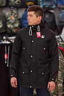 Мужская осенняя демисезонная парка (куртка) Ястребь, черная (есть опт)