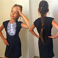 Школьное платье-сарафан Жабо  мм672