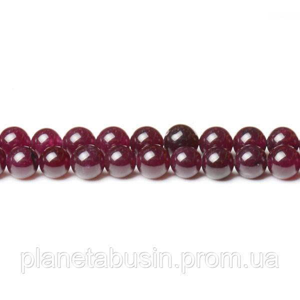 8 мм Гранатовый Нефрит, CN344, Натуральный камень, Форма: Шар, Отверстие: 1мм, кол-во: 47-48 шт/нить