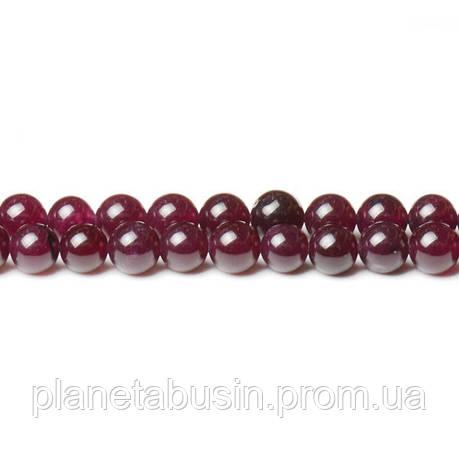 8 мм Гранатовый Нефрит, CN344, Натуральный камень, Форма: Шар, Отверстие: 1мм, кол-во: 47-48 шт/нить, фото 2