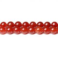 Красный Нефрит, На нитях, бусины 8 мм, Гладкий шар, Отверстие 1 мм, количество: 47-48 шт/нить