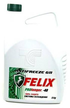 Антифриз Felix PROLONGER-40 антифриз зелений 5kg, фото 2