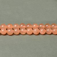 Оранжевый Нефрит, На нитях, бусины 8 мм, Гладкий шар, Отверстие 1 мм, количество: 47-48 шт/нить