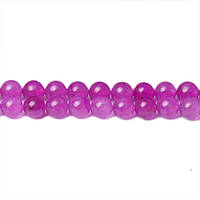 Фиолетовый Нефрит, На нитях, бусины 8 мм, Гладкий шар, Отверстие 1 мм, количество: 47-48 шт/нить