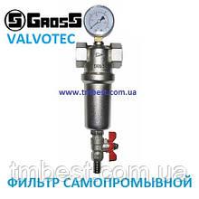 """Фильтр самопромывной 1"""" В с манометром Gross Valvotec"""