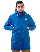 Мужская осенняя демисезонная парка (куртка) Ястребь, голубая (есть опт)