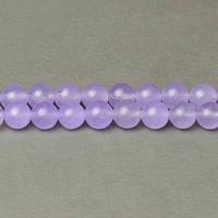 Лавандовый Нефрит, На нитях, бусины 8 мм, Гладкий шар, Отверстие 1 мм, количество: 47-48 шт/нить