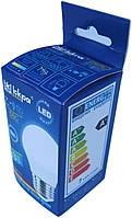 Лампа светодиодная шар Iskra LED 7W (аналог 50 Вт) цоколь E27 колба G45 4000K (белый свет), фото 1