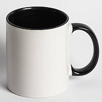 Кружка цветная черная с вашим фото подарок