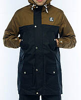 Мужская осенняя демисезонная парка (куртка) Ястребь, койот-черный (есть опт)