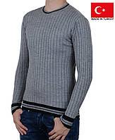 Пуловер на мальчика-подростка серого цвета.