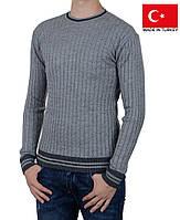 Мужской пуловер косами.Новая коллекция свитеров.