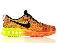 Mужские кроссовки Nike Air Max Flyknit Orange/Neon, фото 1