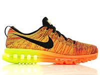 Mужские кроссовки Nike Air Max Flyknit Orange/Neon, фото 1