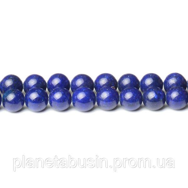 8 мм Синий Нефрит, CN350, Натуральный камень, Форма: Шар, Отверстие: 1мм, кол-во: 47-48 шт/нить