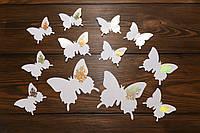 Бабочки для декора интерьера белые