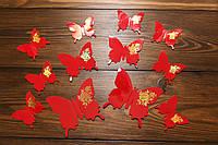 Бабочки для декора интерьера красные