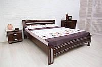 Кровать двуспальная Милана Люкс с фрезеровкой 1600х1900(2000), венге + патина серебро