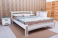 Кровать двуспальная Милана Люкс с фрезеровкой 1600х1900(2000), белый + патина золото