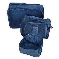 Органайзер для вещей Secret Pouch. Набор из 6 шт. Синий цвет, фото 3