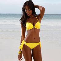 Раздельный женский купальник желтый цвет