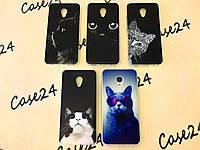TPU чехол Print для Meizu M5 серия кошки