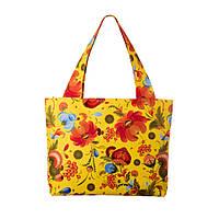 Текстильная сумка XYZ Орнамент Хохлома жёлтая