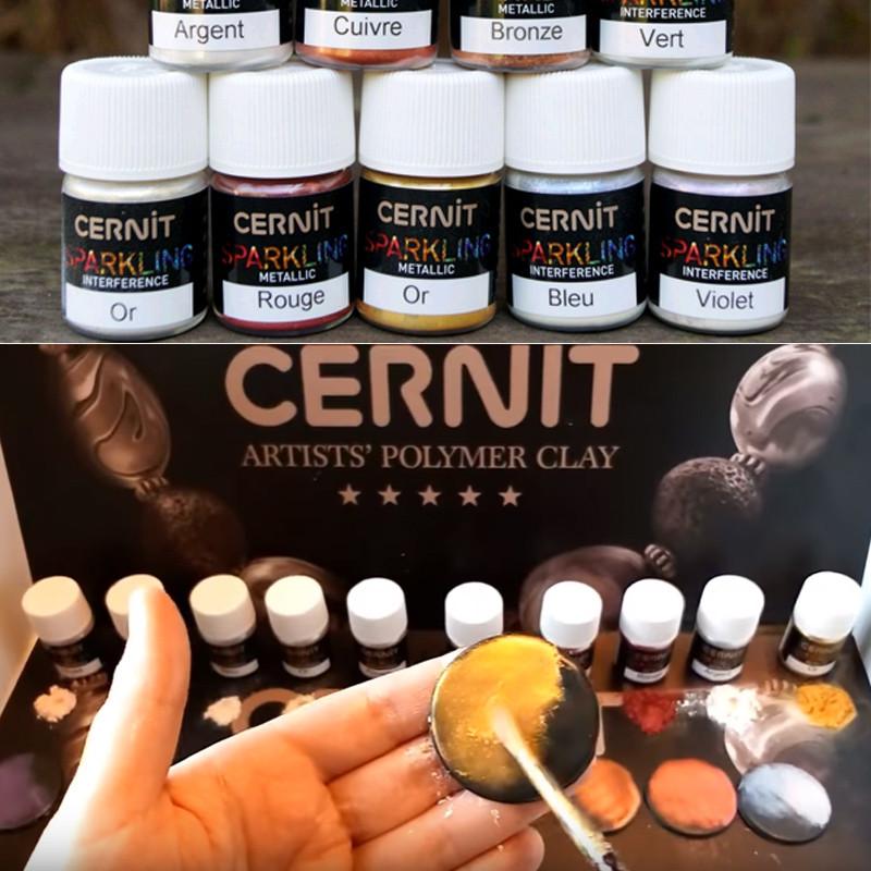 Пудры с эффектом искрящийся металлик Cernit Цернит Sparkling Metallic, медь металлик