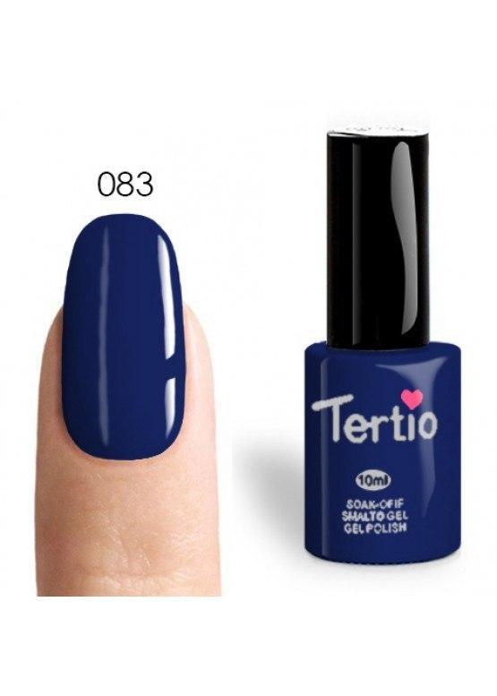 Tertio Гель-лак №083 (темно-синий с микроблеском), 10 мл