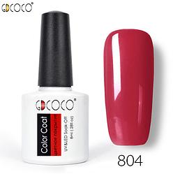 Гель-лак GDCOCO 8 мл, №804 (красно-вишневый)