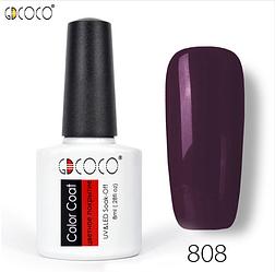 Гель-лак GDCOCO 8 мл, №808 (черно-баклажанный)