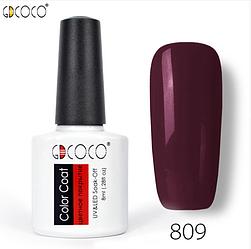Гель-лак GDCOCO 8 мл, №809 (фиолетово-сливовый)