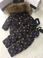Комбинезон  пуховый зимний детский Moncler (Монклер).