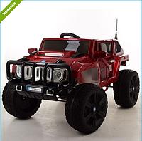 Детский электромобиль Джип Hummer M 3570 EBLRS-3 АВТОПОКРАСКА бордовый