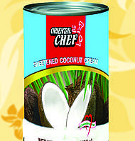 Кокосовый крем(сливки), Oriental Chef, Coconut Cream, 400мл, 21,1%, ЧСх