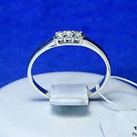 Серебряное кольцо с цирконием, тонкое кс 1226