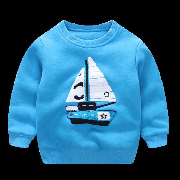 Свитерок детский кораблик