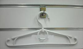 Дитячі пластикові плічка вішалки 30 см - білі