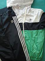 Детский Спортивный костюм на мальчика плащевка на сетке Размеры 34- 38 Зеленый