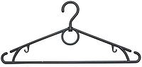 Плечики вешалка пластиковая черного цвета 38 см