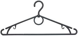 Пластикові плічка вішалки чорного кольору 38 см