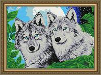 Набор в алмазной вышивке Волки лунной ночью
