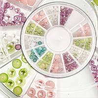 Жемчуг цветной для дизайна ногтей