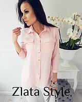 Женская блуза в разных цветах длинный рукав на пуговицах