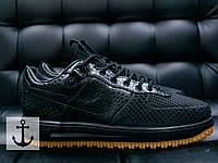 Кроссовки мужские найк аир форс Nike Air force Black низкие